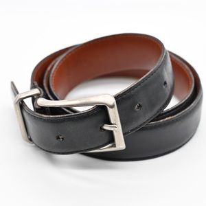 """Coach Leather Belt With Silver Buckle Sz 34""""/ 85cm"""